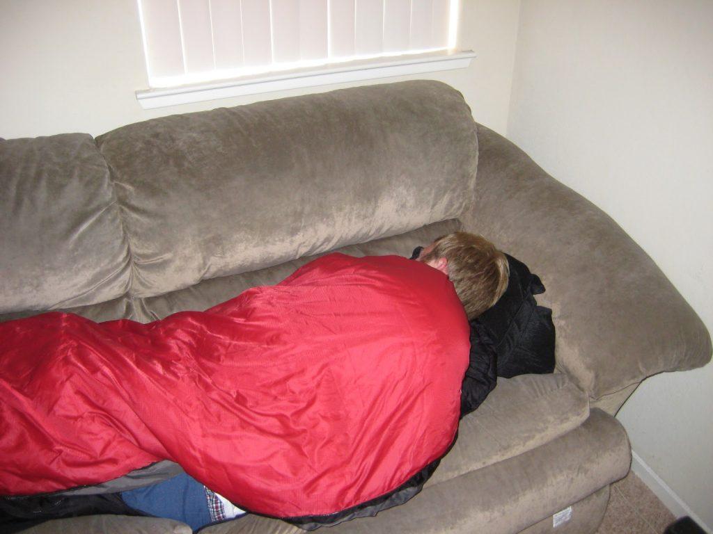 couchsurfing 寝袋
